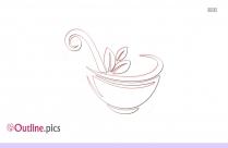 Herbal Tea Clip Art Outline