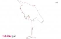Heron Clip Art Sketch