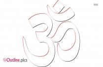 Hindu Symbols Outline