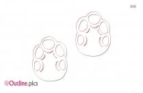 Human Footprints Outline Image