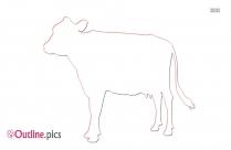 Holstein Cow Calf Outline