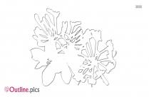 Honeysuckle Flower Outline Image