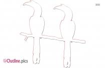 Bird In Flight Outline