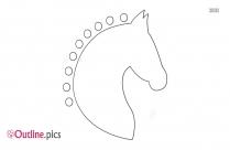Horse Head Design Outline