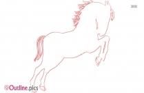 Horse Jumping Outline Clip Art