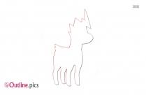 Horse Pokemon Outline Clip Art