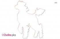 Horse Pokemon Outline Image