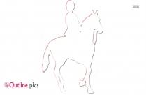 Horse Riding Outline Clip Art