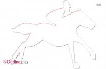 Horse Rider Outline Art