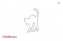 Cat Outline For Kids