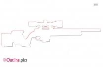 Bloody Sword Outline Clip Art