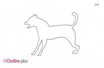 Howling Dog Outline