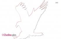 Hunting Eagle Outline Image