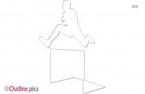 Hurdler Clip Art Outline Pic