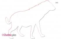 Anti Poaching Lion Outline