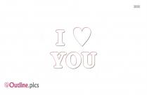 Clip Art Love Heart Vector Outline