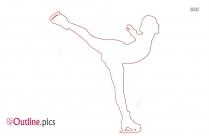 Ice Skater Outline