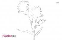 Indian Flowers Outline Clip Art