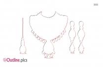 Indian Jewelery Outline Design
