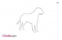 Irish Wolfhound Dog Outline Image