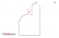 Islamic Clip Art Outline