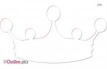 Princess Crown Clipart Outline