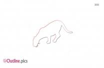Jaguar Animal Outline Pic