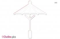 Cartoon Umbrella Outline Art