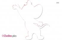 Jerry Mouse Outline Clip Art