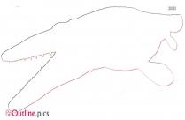 Jurassic Park Tylosaurus Outline Design