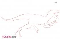 Jurassic World Velociraptor Dinosaur Outline Image