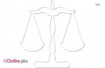 Justice Symbol Outline, Scale Of Justice Symbol