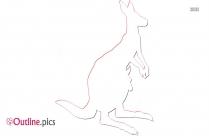 Kangaroo Outline Illustration