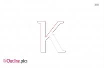 Kappa Symbol Outline