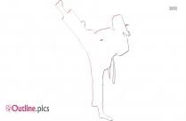 Karate Kick Drawing Outline Sketch