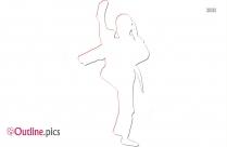 Karate Kick Outline Drawing