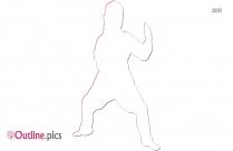 Women Self Defense Taekwondo Outline Image