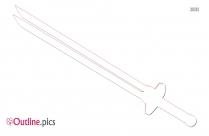 Submachine Gun Weapon Outline