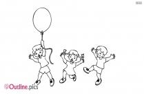 Happy Little Kids Outline