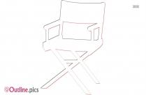 Beach Chair And Umbrella Clip Art Outline
