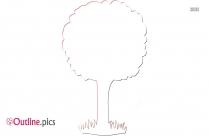 Large Tree Outline Clip Art