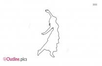 Leaping Female Dancer Outline