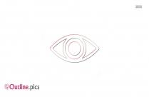 Left Eye Symbol Outline Picture
