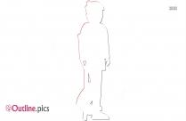 Leg Injury Outline Sketch