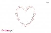 Linked Hearts Outline Background