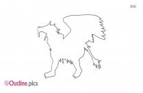 Lion Griffin Outline