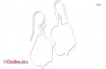 Lira Earrings Outline Drawing