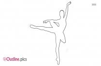 Little Ballerina Outline