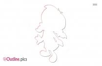 Little Einstein Girl Outline Clipart