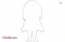 Little Girl Outline Image